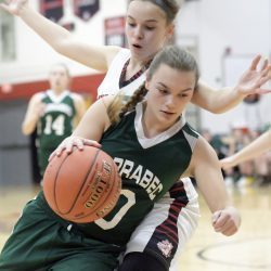 Hall-Dale girls basketball holds off Carrabec for win