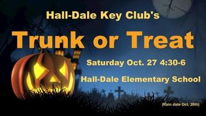 Key Club Trunk or Treat IS OCTOBER 28
