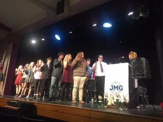 JMG students being inducted