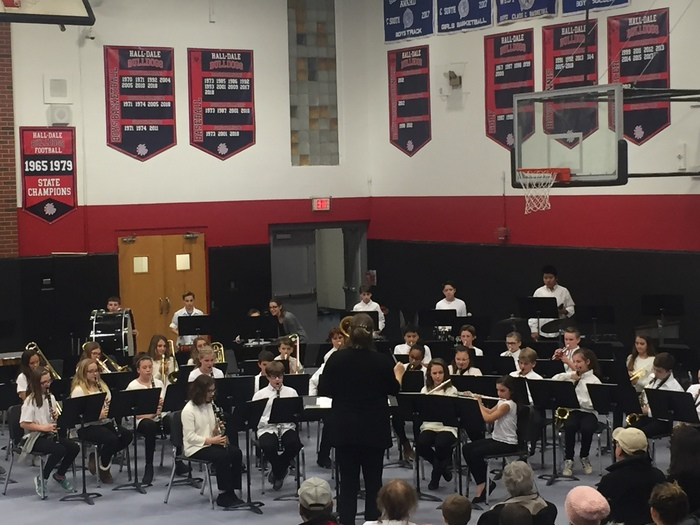 6th grade band with MrsD'Alfonso