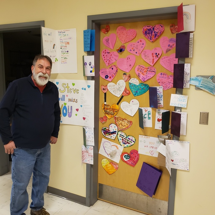 HDES Head Custodian, Steve Beaulieu.